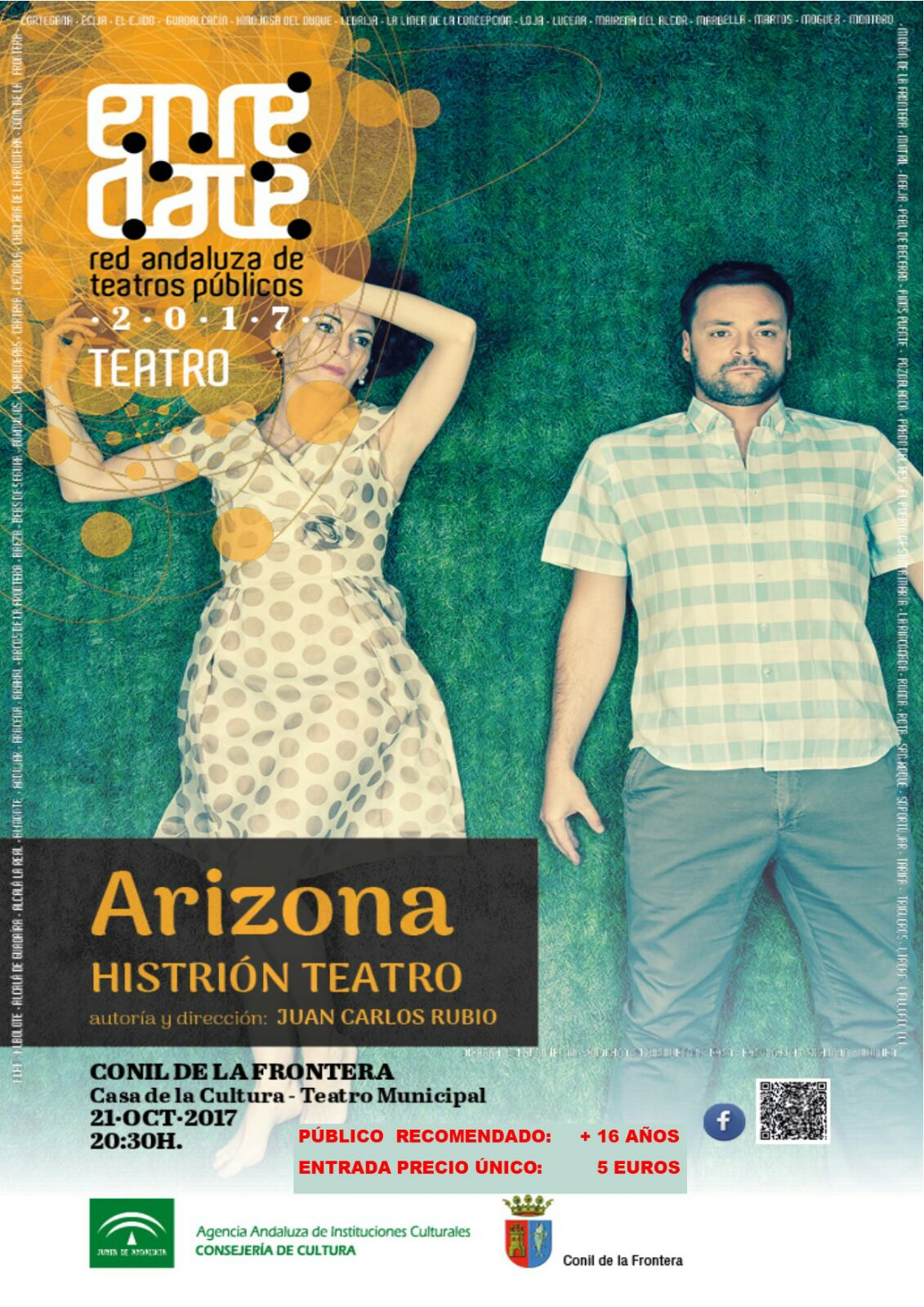 "Cartel de la obra ""Arizona"""